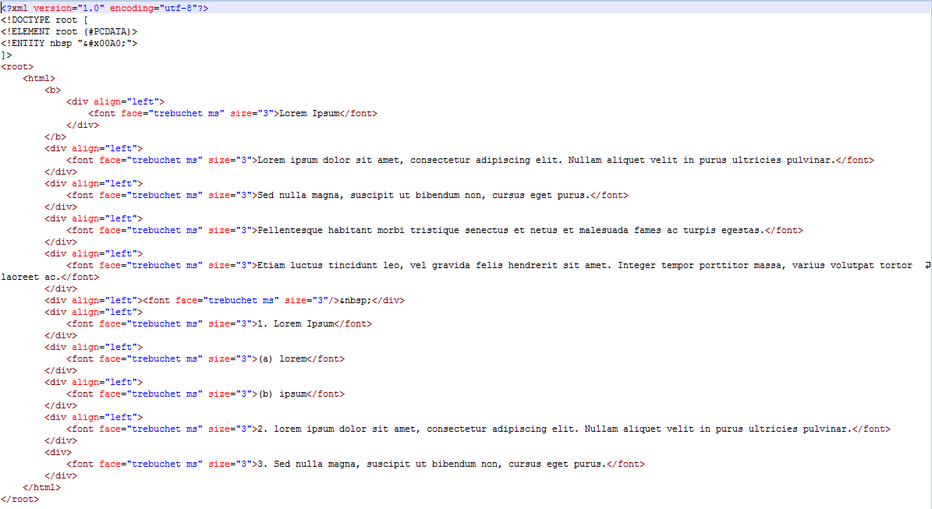 HTML Field